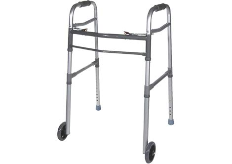 Folding Walkers with Wheels